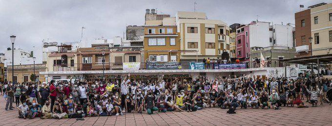 Llegada a Canarias de la Caravana Abriendo Fronteras