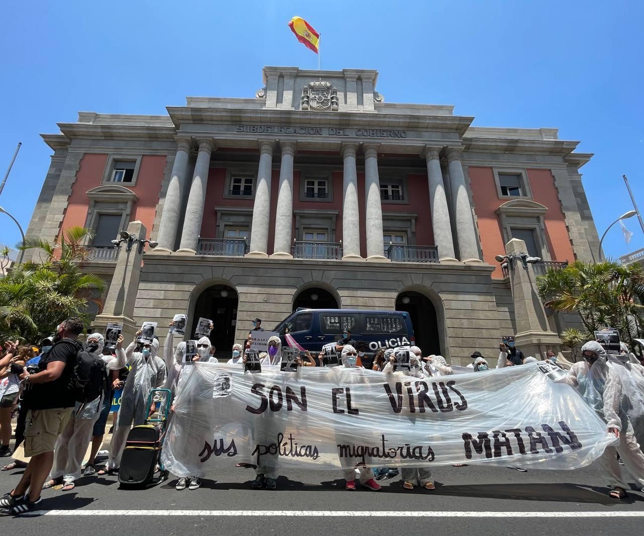 Imagen de la manifestación de la Caravana