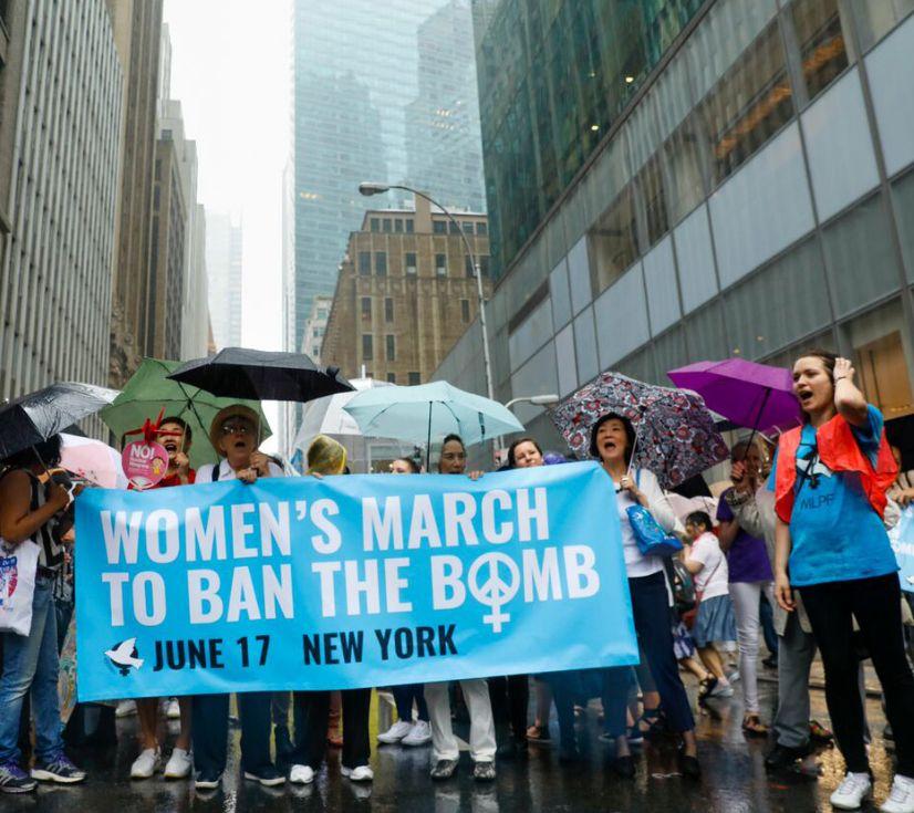 Manifestación para la prohibición de las armas nucleares