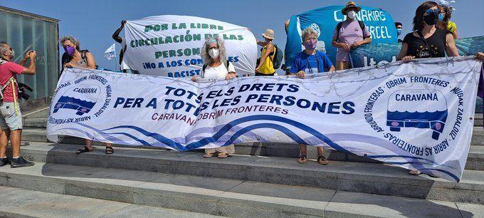 Manifestación del segundo día de la Caravana Abriendo Fronteras
