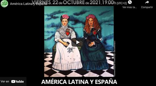 """Cartel del evento """"América Latina y España"""""""