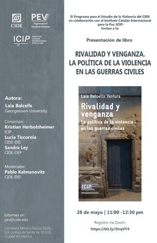 Cartel presentación del libro 'Rivalidad y venganza'.