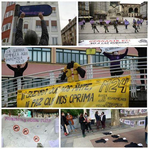 Celebraciones en Euskal Herria del Día Internacional de las Mujeres por la Paz y el Desarme