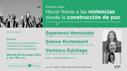 Ciclo de diálogo - Sesión 6. Democracia participativa, movimientos sociales y resistencias noviolentas