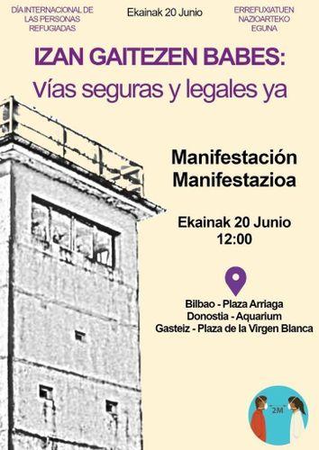 Cartel convocatoria Manifestación 20J
