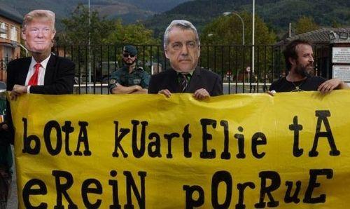 Marcha antimilitarista contra el cuartel de Soietxe