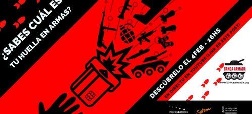 Banner del Webinar sobre la huella en la Banca Armada
