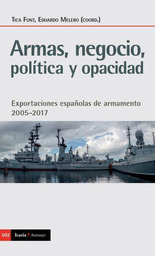 Portada libro armas negocio politica y opacidad de Tica Font y Eduardo Melero
