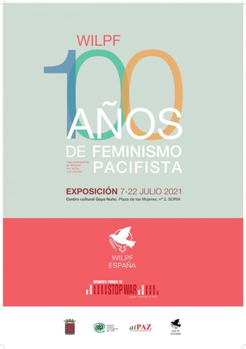 Cartel de la exposición '100 años de feminismo pacifista'