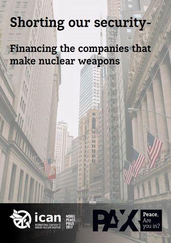 Portada Informe Don't Bank on the Bomb