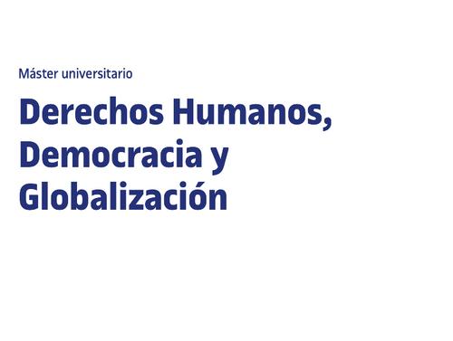 Máster en Derechos Humanos, Democracia y Globalización